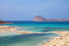 Beautiful beach on Crete island Stock Photography