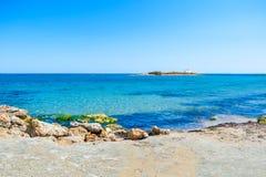 Beautiful beach in Crete island, Greece. Stock Photography