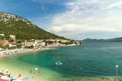Beautiful beach in Croatia, Makarska Riviera, Croatia. Europe Royalty Free Stock Images