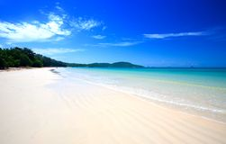 Beautiful beach with crystal clear blue waters Royalty Free Stock Image
