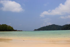 Beautiful Beach with Crystal Clear Ocean of Surin Islands, Thail Royalty Free Stock Images