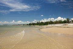 Beautiful beach with cumulus clouds in KeGa, Vietnam Royalty Free Stock Photography