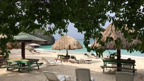 Beautiful beach at the Curacao stock video