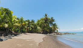 Beautiful beach at Drake Bay on the Pacific Ocean in Costa Rica Stock Photo