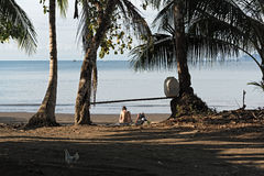 Beautiful beach at Drake Bay on the Pacific Ocean in Costa Rica Royalty Free Stock Photography