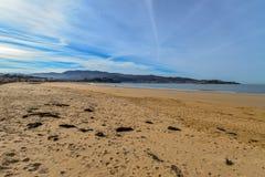 Playa America - Nigran - Galicia. Beautiful beach an early spring day on Playa America - Nigran - Galicia, Spain Royalty Free Stock Photography