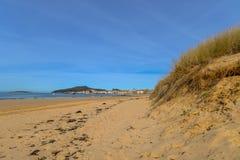 Playa America - Nigran - Galicia. Beautiful beach an early spring day on Playa America - Nigran - Galicia, Spain Stock Photos