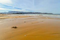 Playa America - Nigran - Galicia. Beautiful beach an early spring day on Playa America - Nigran - Galicia, Spain Stock Images