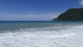 Beautiful beach on the east of Taiwan with nice view and sea Stock Images