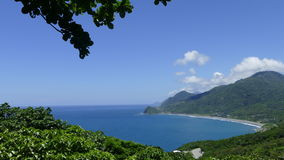 Beautiful beach on the east of Taiwan with nice view and sea Stock Photography