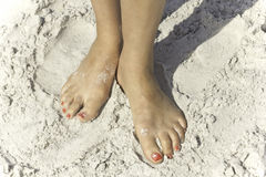 Beautiful Beach Feet Royalty Free Stock Image