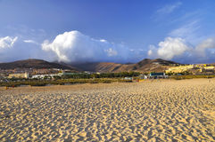 Beautiful beach of Fuerteventura. Morro Jable. Jandia Royalty Free Stock Photography