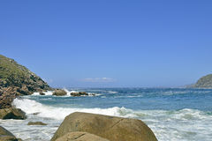 Beautiful beach in Galicia Spain Stock Images
