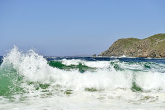 Beautiful beach in Galicia Spain Royalty Free Stock Images