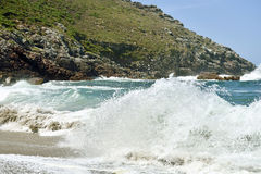 Beautiful beach in Galicia Spain Stock Image