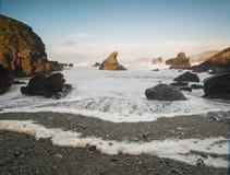 Beautiful beach in Galicia, Spain Stock Photos