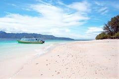Beautiful beach on Gili Meno in Indonesia. Stock Photo