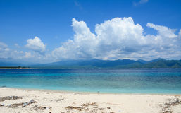 Beautiful beach in Gili Meno island, Indonesia Royalty Free Stock Photography