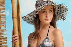 Beautiful beach girl Royalty Free Stock Images