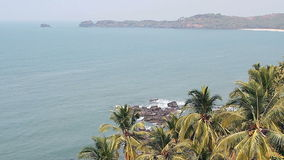 Beautiful beach in Goa stock video footage