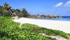 Beautiful beach Grande Anse Stock Photos