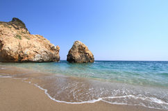 Beautiful beach  in Greece Royalty Free Stock Photo