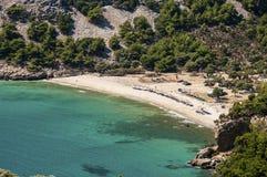 Beautiful beach in Greece. Livadi Beach, Thassos Island, Greece Stock Photos