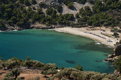 Beautiful beach in Greece. Livadi Beach, Thassos Island, Greece Stock Image