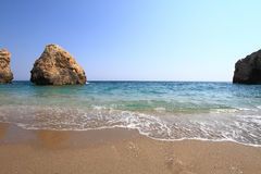 Beautiful beach in Greece at summer Royalty Free Stock Images