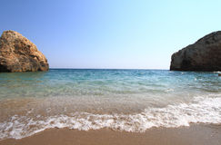 Beautiful beach in Greece at summer Royalty Free Stock Photography