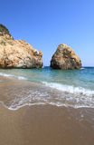 Beautiful beach in Greece at summer Royalty Free Stock Photos
