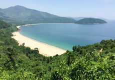 Beautiful beach with green mountain in Phu Quoc, Vietnam.  Stock Photography