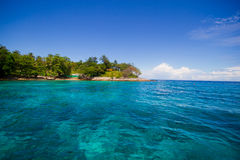 Beautiful beach and green water. On Phi Phi, Thailand Stock Photos