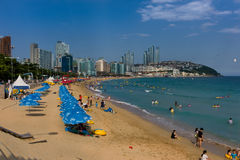 Beautiful Beach of Haeundae, Busan, Korea Stock Image