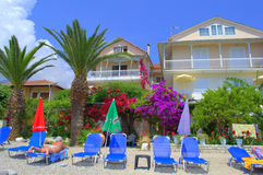 Beautiful beach hotel garden Royalty Free Stock Images