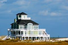 Beautiful Beach House on Shore Stock Photography