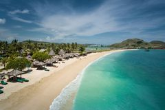 Free Beautiful Beach In Lombok, Indonesia Seen From Above Stock Photography - 112385682