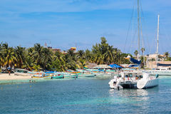 Beautiful beach - Isla Mujeres - Cancun Stock Image