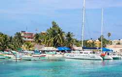 Beautiful beach - Isla Mujeres - Cancun Royalty Free Stock Photo