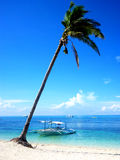 Beautiful beach on island of Malapascua in the Philipines Royalty Free Stock Photos