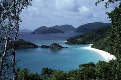 Beautiful beach/island vista. A beautiful vista of Trunk Bay, St. John, in the US Virgin Islands Stock Photography