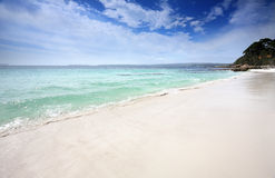 Beautiful beach in Jervis Bay, Australia Stock Photos