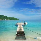 Beautiful beach jetty Royalty Free Stock Photos