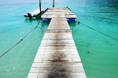 Beautiful beach jetty Royalty Free Stock Photography