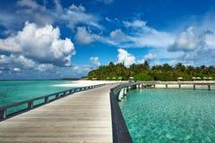 Beautiful beach with jetty Stock Photography