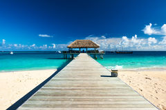 Beautiful beach with jetty Royalty Free Stock Images