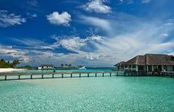 Beautiful beach with jetty Royalty Free Stock Photo