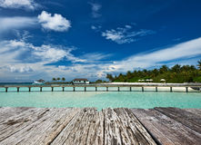 Beautiful beach with jetty Stock Image