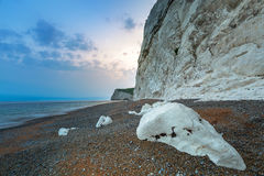 Beautiful beach on the Jurassic Coast of Dorset Royalty Free Stock Photo