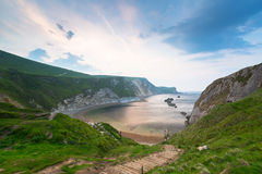Beautiful beach on the Jurassic Coast of Dorset Stock Photography